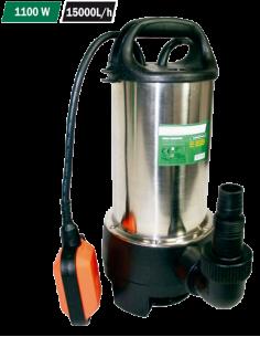 Bomba sumergible inox. 1100W 15000 L/h